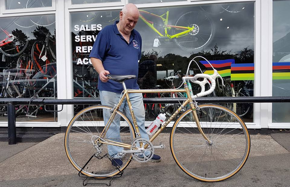 3204ef5b2e7 Brian with his commissioned vintage Gazelle road bike from Life on Vintage  Wheels, Holywell,